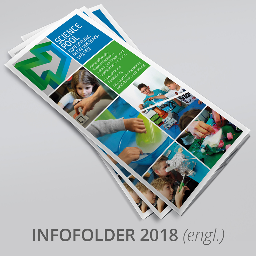 Science Pool Infofolder Englisch